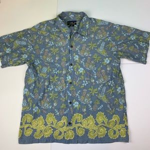 Pataloha by Patagonia Hawaiian Tiki Masks Shirt XL